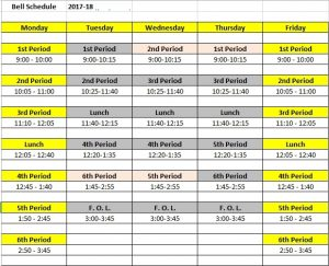 schedule 2017-18 alternate